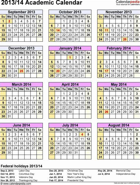 Social Media Calendar Template 2014