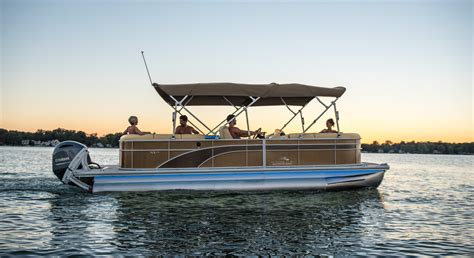 2017 sx24 dinette pontoon boats by bennington