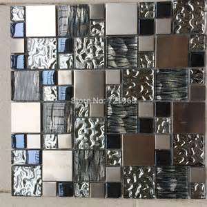 silver metal mosaic stainless steel tile kitchen backsplash wall tiles mosaics