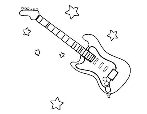Electric Guitar Coloring Page by Electric Guitar Coloring Page Coloring Book