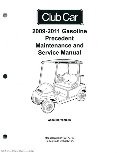 service manual online car repair manuals free 2011 chrysler town country instrument cluster 2009 2011 club car gasoline precedent maintenance and service manual 103472702 ebay