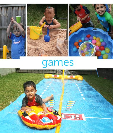 Backyard Olympic Games For Kids Wet N Wild Children S Summer Birthday Party