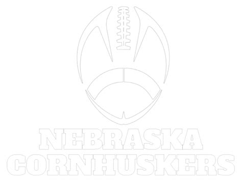 printable nebraska cornhuskers coloring sheet