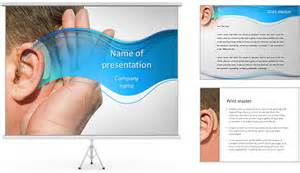 aid powerpoint template hearing aid powerpoint template backgrounds id