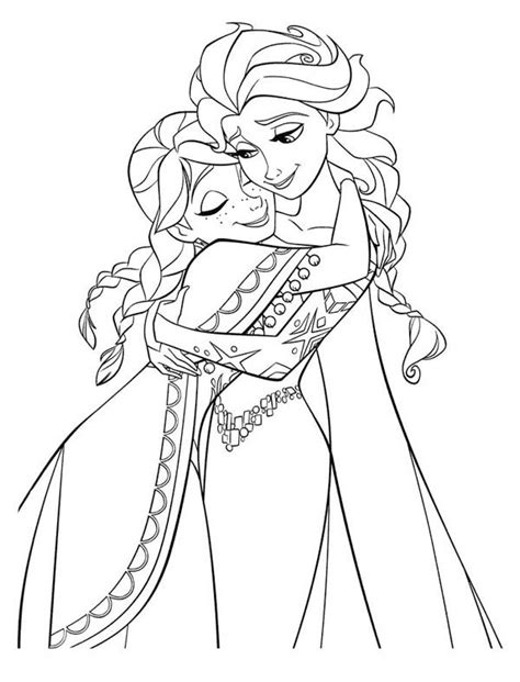 anna elsa frozen colouring pages