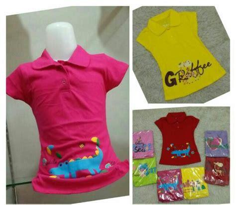 Murah Kaos Anak Perempuan Katun Adem sentra grosir kaos kerah raisa anak perempuan murah 20ribu baju3500