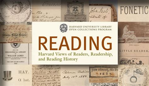 who reads open collections program reading harvard views of