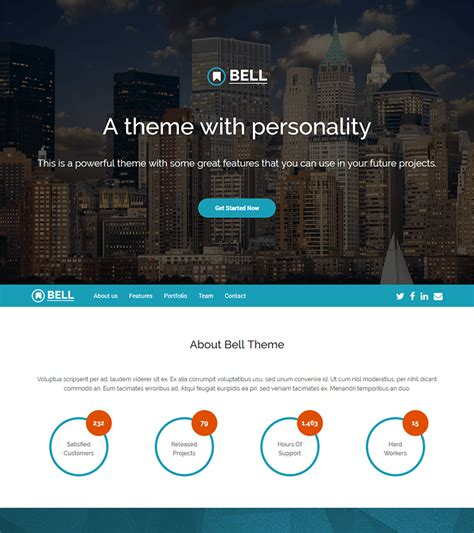 Bell Free Multipurpose Bootstrap 4 Template Bootstrapmade Free Project Website Templates