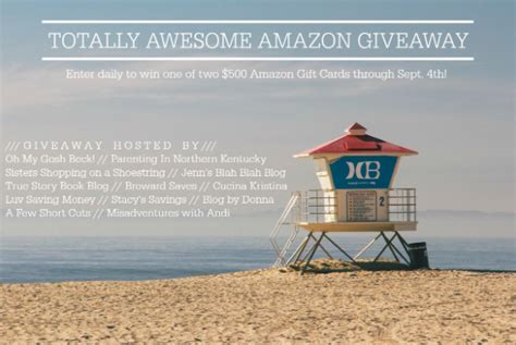 Awesome Giveaways - totally awesome 500 amazon gift card giveaway debt free spending