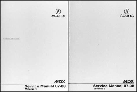 service manuals schematics 2007 acura mdx free book repair manuals 2007 2009 acura mdx electrical troubleshooting manual original