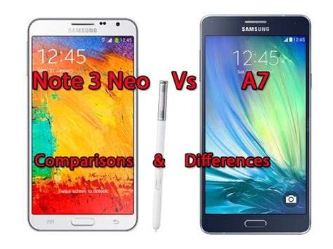 Samsung Galaxy A7 Vs Note 3 Samsung Galaxy A7 Vs Samsung Galaxy Note 3 Neo