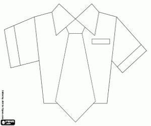 camisa y corbata para colorear juegos de pilotos y auxiliares de vuelo para colorear