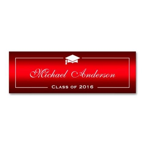 graduation name card business cards 21 best graduation name cards images on carte