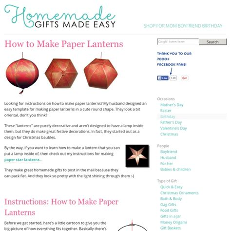 How To Make Easy Paper Lanterns - how to make paper lanterns style