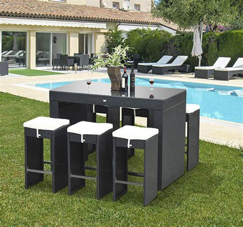 Outdoor Kitchen Sets outsunny 7pc outdoor kitchen dining table wicker rattan
