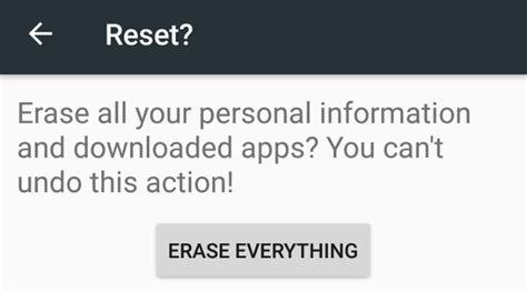 reset android media player how to factory reset android