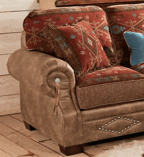 Southwestern Sofas by Ranchero Southwestern Loveseat