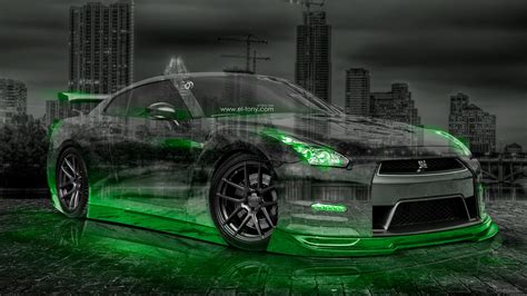 neon nissan nissan gtr r35 jdm city car 2015 el tony