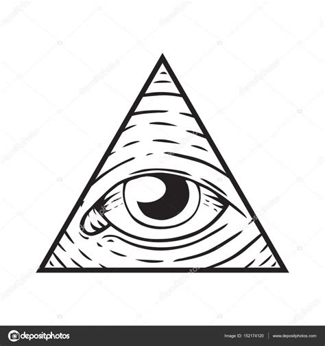 segno degli illuminati segno degli illuminati occhio di dio vettoriali stock