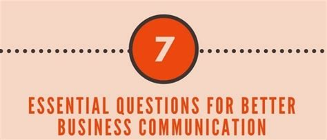better business communication the 7 essential questions for better business communication