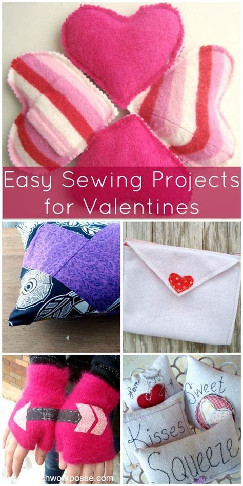 easy valentines for sewing valentines projects