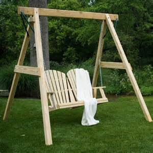 Patio Swing With Frame A Frame W Swing Porch Swings Gazebo Depot
