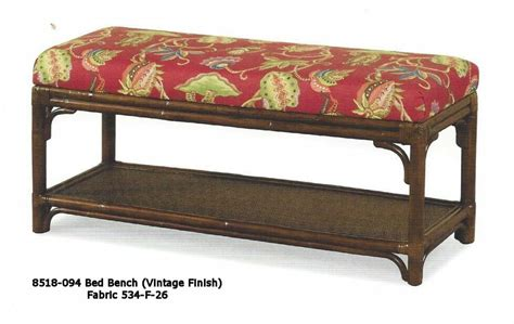 wicker bed bench aruba rattan bed bench kozy kingdom