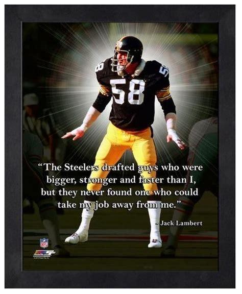 "Jack Lambert Pittsburgh Steelers   11"" x 1 4"" Framed ""Pro"