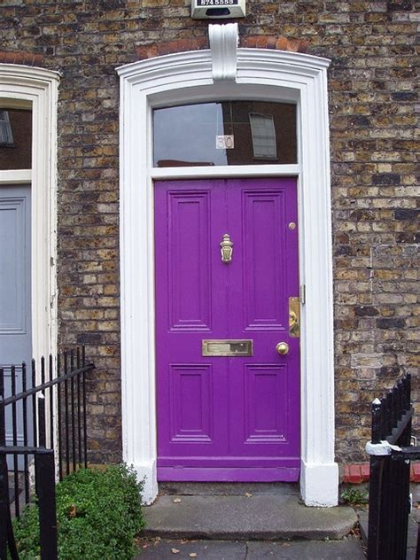 purple front door the obsessive imagist design my home a colorful front door