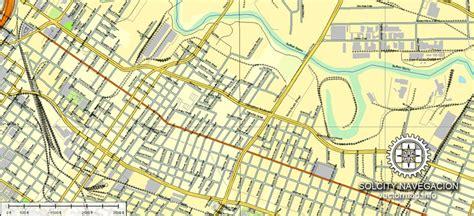 houston printable vector street map editable illustrator