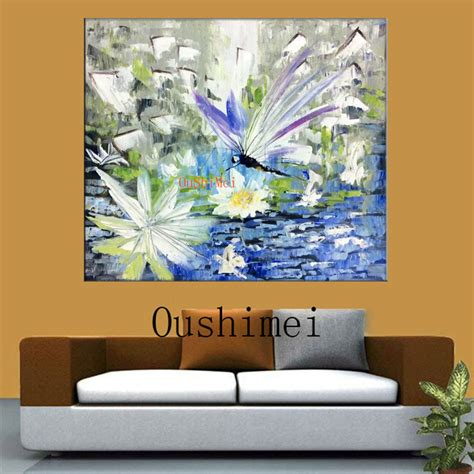 Handmade Paintings On Canvas - handmade modern knife landscape pictures on canvas