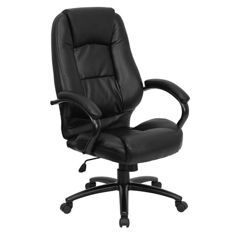 High Back Leather Office Chair by High Back Black Leather Executive Office Chair Go 710 Bk Gg