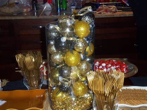 Gold And Black Decorations by Black And Gold Decorations Favors Ideas
