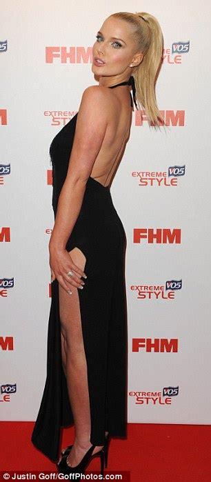 Helen Halter Neck Dress helen flanagan shows best assets in shoot