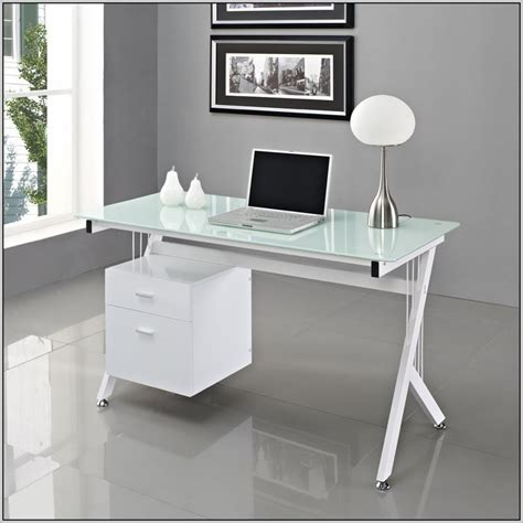 Office Desk With Glass Top Desk Office Desk Glass Top Intended For Glass Top Office Desk Home Office Furniture Ideas
