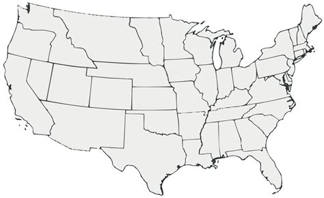 picture of a blank map of the united states us map states unlabeled