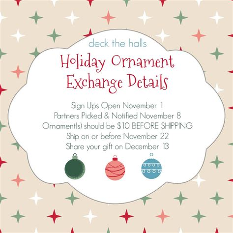 alternativebto exchanging christmas ornaments chasin announcing a ornament exchange