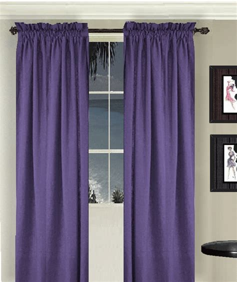 purple valance curtains purple long curtain set