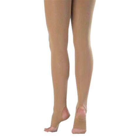 capezio light suntan stirrup tights capezio hold stretch stirrup tights