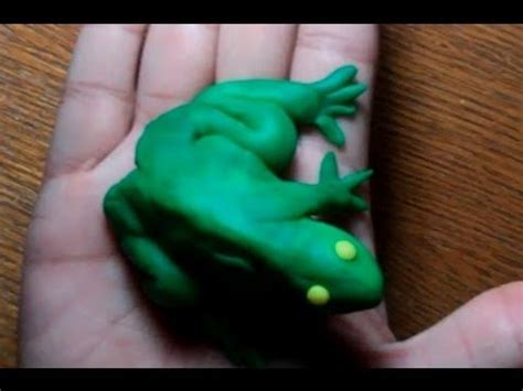 How Do You Make A Frog Out Of Paper - how to make play doh animals frog