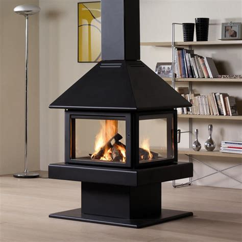 Indoor Wood Burning Fireplace Rocal 80 Wood Burning Stove Contemporary