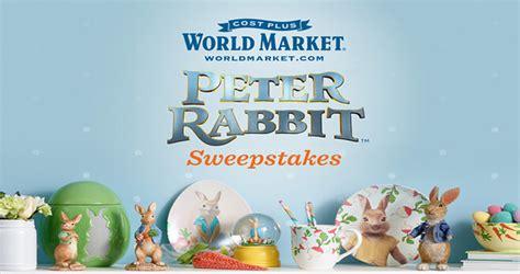 World Market Sweepstakes - world market peter rabbit sweepstakes