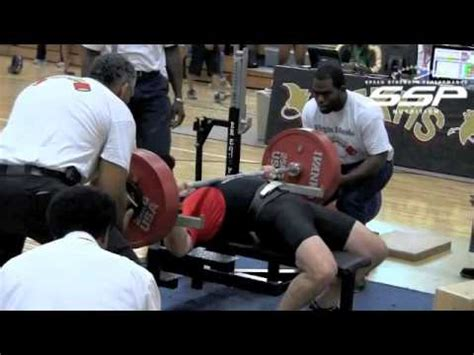 bench press records by weight class dennis cieri breaks world record in the raw bench press