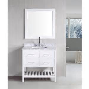 pearl white solid wood 36 inch transitional