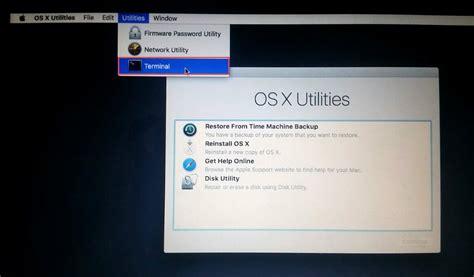 reset nvram macbook el capitan how to reset forgotten mac os x el capitan password tactig