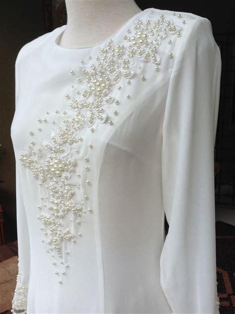 Baju Kurung Moden Untuk Akad Nikah baju akad nikah tunang putih my wedding dress