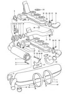 porsche 911 heat exchanger connector 91121113100ger 91121155300 91121113100 design 911
