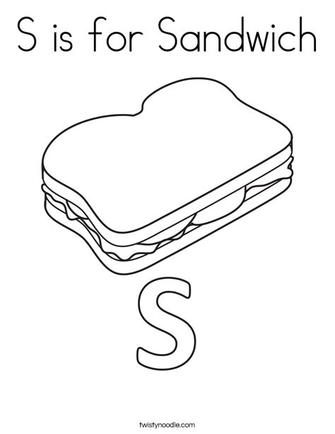 Sandwich Coloring Sheets Coloring Pages Sandwich Coloring Pages