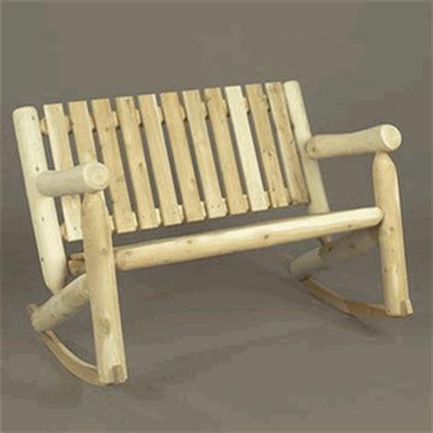 rustic rocking chair kit cedar log style rocking chair
