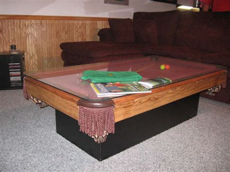 pool table coffee table